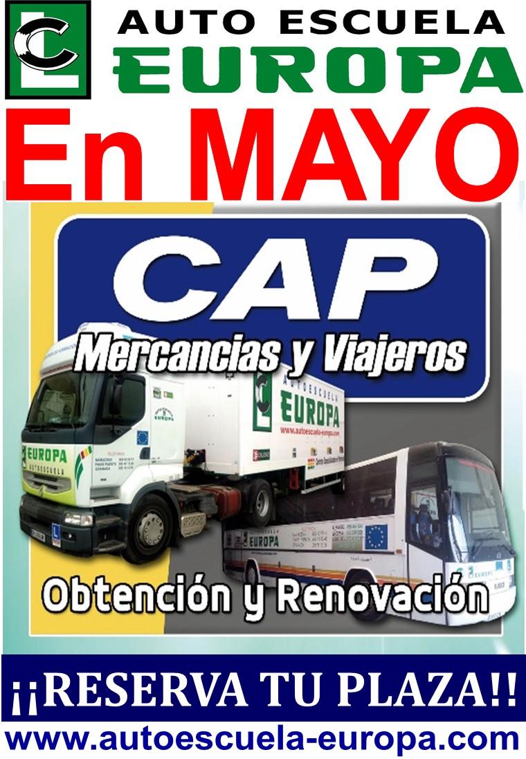 CURSOS CAP MERCANCÍAS Y VIAJEROS (OBTENCIÓN Y RENOVACIÓN)