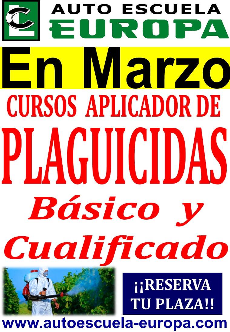 CURSO APLICADOR DE  PRODUCTOS FITOSANITARIOS (PLAGUICIDAS)…¡¡ÚLTIMAS PLAZAS!!