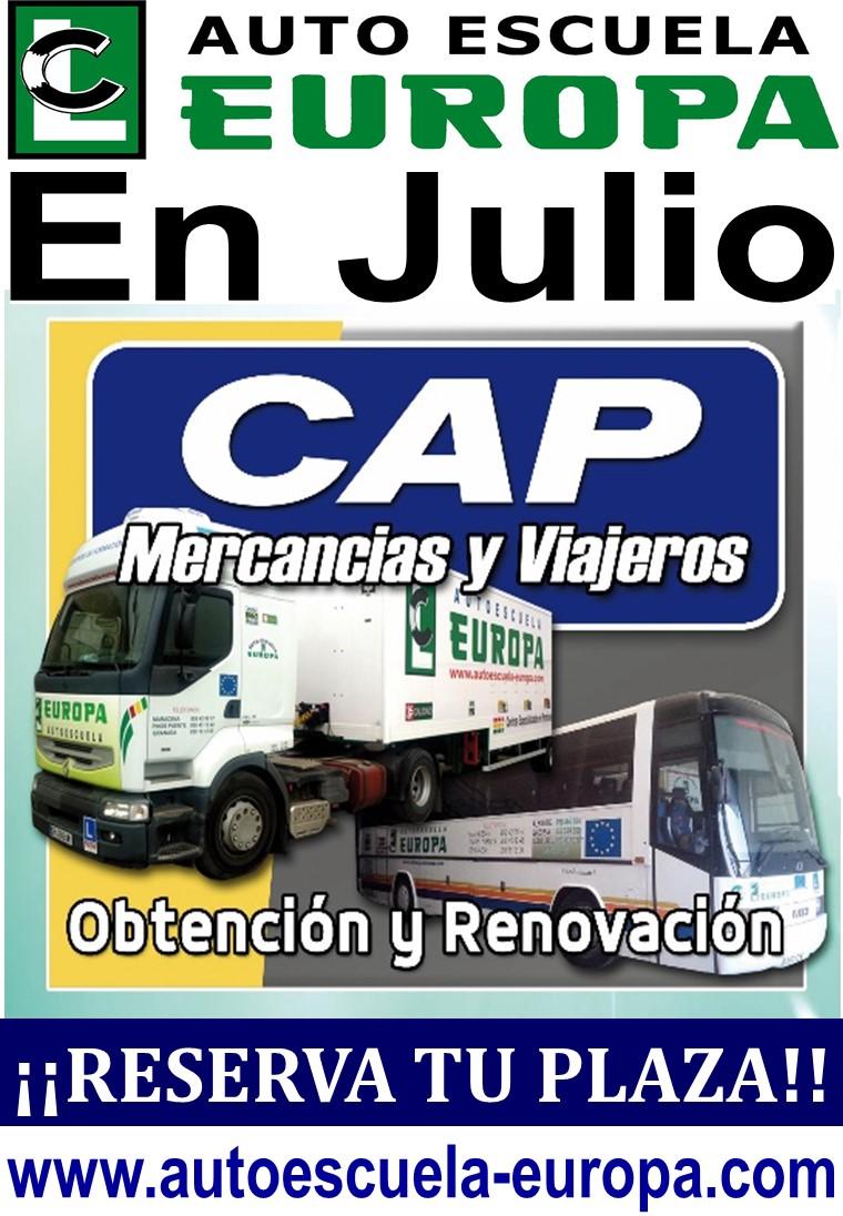 CURSOS CAP RENOVACIÓN (MERCANCÍAS Y VIAJEROS), ¡¡ÚLTIMAS PLAZAS!!