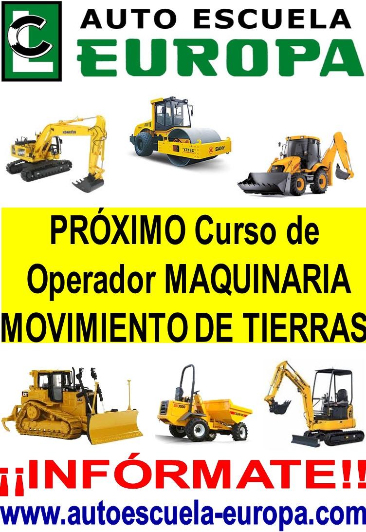 CURSO OPERADOR MAQUINARIA DE MOVIMIENTO DE TIERRAS
