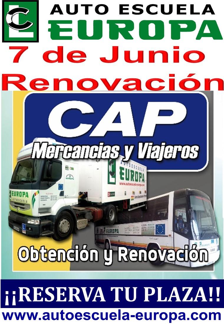 CURSOS CAP MERCANCÍAS Y VIAJEROS RENOVACIÓN – ¡¡ÚLTIMAS PLAZAS!!