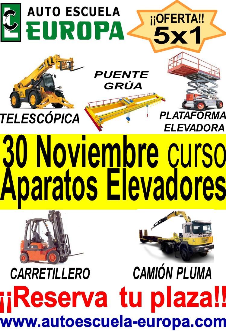 ¡¡ÚLTIMAS PLAZAS!! CURSO OPERADOR DE APARATOS ELEVADORES