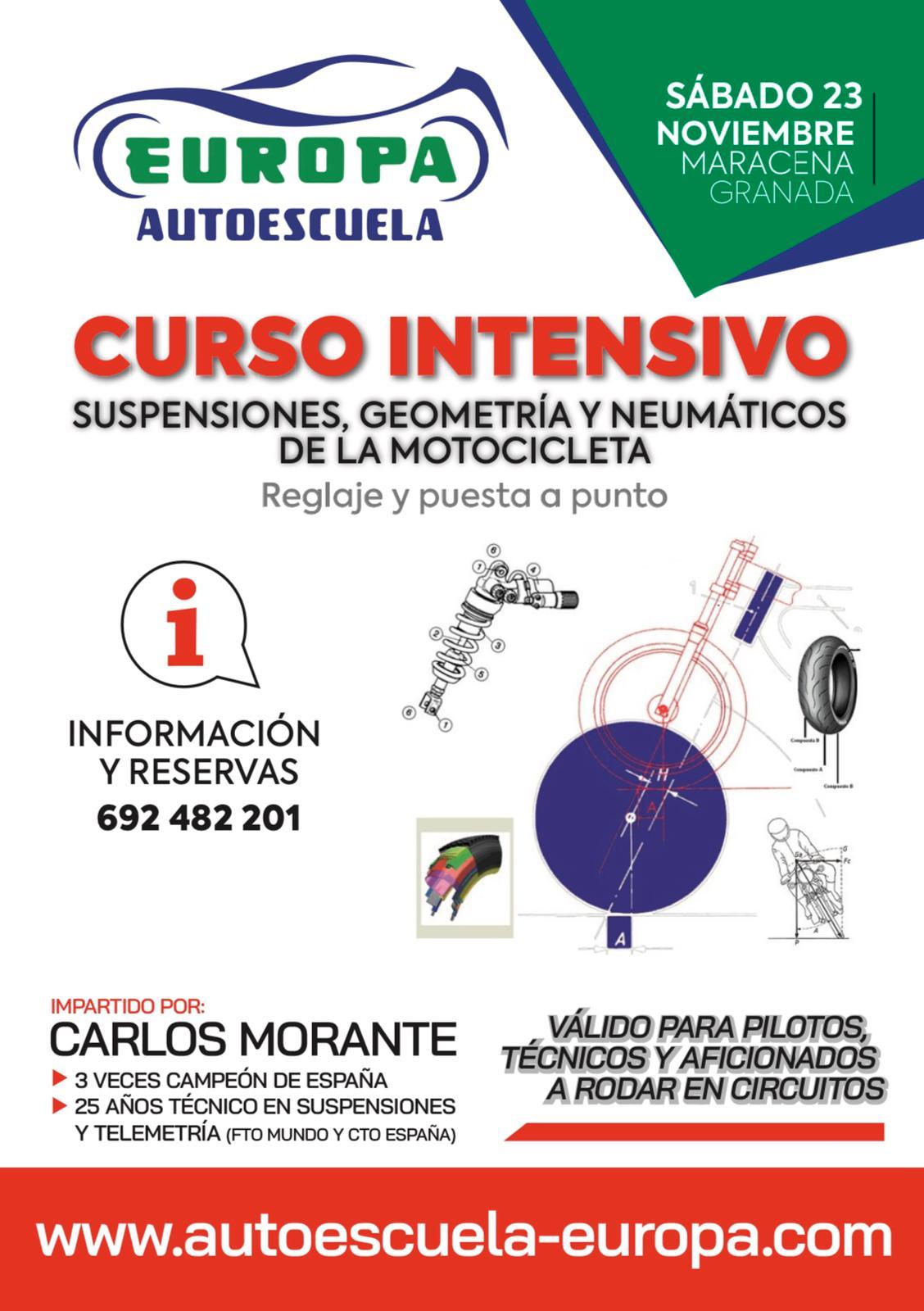 CURSO TEÓRICO DE PUESTA A PUNTO DE LA MOTOCICLETA (CIRCUITO Y CARRETERA)