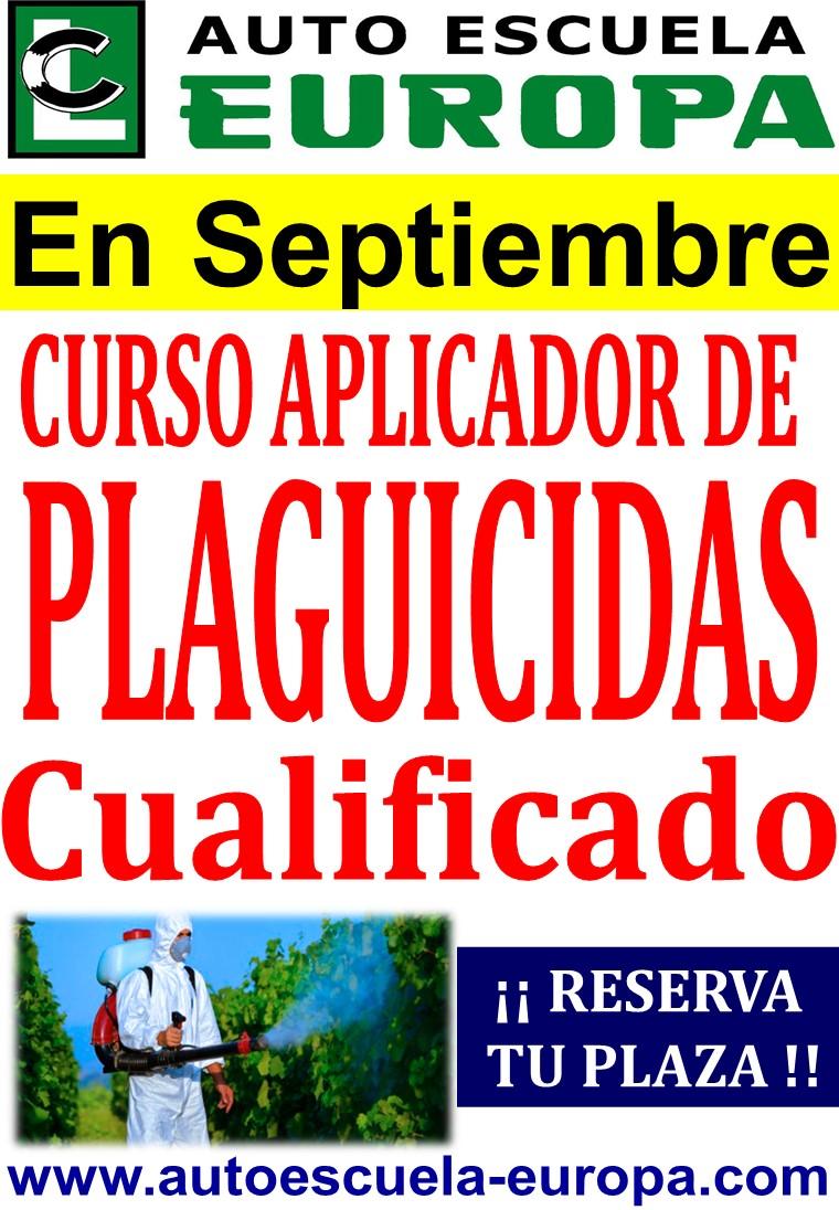 NUEVO CURSO APLICADOR DE  PRODUCTOS FITOSANITARIOS (PLAGUICIDAS)